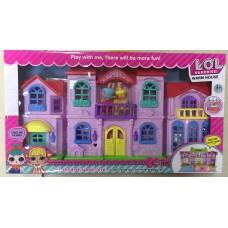 Набор кукла в шаре Дом с мебелью + 2 куклы 622