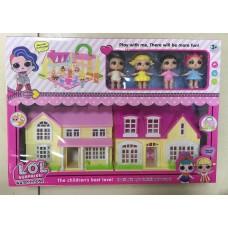 Набор кукла в шаре Дом + 4 куклы 625