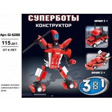 """Конструктор SuperBlock """"Робот-Трансформер"""" красный М Gl-6280"""