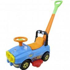 Автомобиль Джип-каталка с ручкой (голубой) 62901