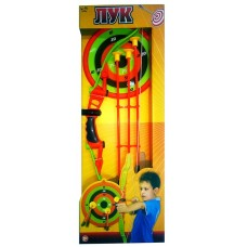 Лук со стрелами на присосках, в наборе 3 стрелы,лук,мишень,коробка (S-00060)