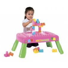 Набор игровой с конструктором (20 элементов) в коробке (розовый) 58003