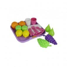 Набор продуктов №2 + посуда+поднос (21элем. в сеточке) 46970