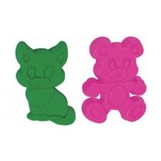 Формочки (котенок + медведь) 7162