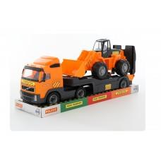 """Автомобиль """"Volvo"""" трейлер + трактор-погрузчик (в лотке) 58423"""